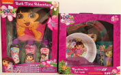 Nickelodeon Dora the Explorer Meal Time Dish Set and Bath Time Adventure Beauty Set