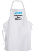 Music is cheaper than therapy – Adult Size Apron
