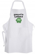 powered by Lettuce – Adult Size Apron Chef Cook Kitchen Salad Vegan Vegetarian