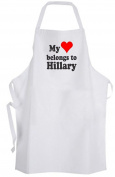 My heart belongs to Hillary – Adult Size Apron