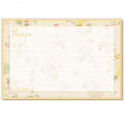 Cookbook People Recipe Cards 4x6 Lemon Linen 40ea Made in USA