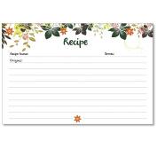 Cookbook People Recipe Cards 4x6 Hanging Gardens Dark Green 40ea