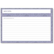 Cookbook People Agatha Navy Blue Recipe Cards 4x6 Bridal Wedding 40 Ea
