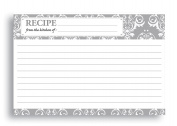 Home Advantage - Bridal Wedding Pattern Kitchen Recipe Card Set, 50 Double Sided cards, 10cm x 15cm