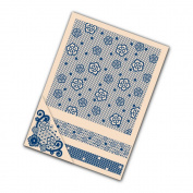 Tattered Lace Set of 4 Embossing Folders - Floral Flourish EF057