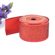 eZthings® Decorative Sparkly Designer Glitter Fabric Ribbons for Gift Wrapping and Tree Decorating (10 Yards