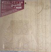 Hearts Wood Shapes Country Originals 9-156