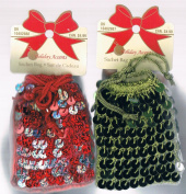 Holiday Accents - Red & Green Sequin Sachet Gift Bags