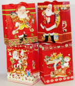 Christmas 3D Pop Up Gift Bags with Glitter - 4 Pack
