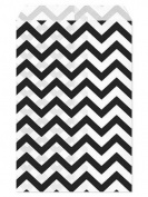 100 Pc 22cm X 28cm Black Chevron Paper Bags by My Craft Supplies
