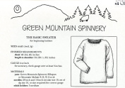 The Basic Sweater for Beginning Knitters - Green Mountain Spinnery Knitting Pattern