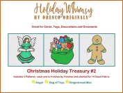 3 Christmas Holiday Counted Cross Stitch Patterns Treasury #2 Angel Toys Gingerbread