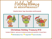 3 Christmas Holiday Counted Cross Stitch Patterns Treasury # 18 Elf Fairy Jack in Box