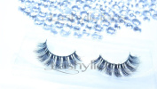 Featherlicious 100% Mink Eyelashes by Lashylicious Natural With Super Felxible Band and Useable 20+ times - Thick Fake lashes Extensions