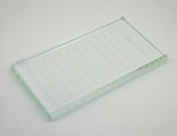 EMILYSTORES Crystal Tray Glass Eye Lash Stand Pallet Holder for Eyelash Extensions 11cm x 6.4cm X0.10cm 1PC