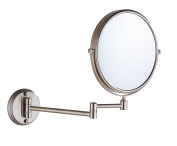 Cavoli 20cm Two-Sided Swivel Wall Mounted Mirror with 7x Magnification,Nickel Finish