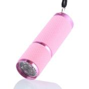 Tuscom Mini Aluminium UV Ultra Violet 9 LED Flashlight Torch Light Lamp Black