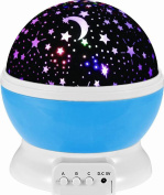 Maphissus Sun Star Night Lighting Lamp Moon Star Projector 4 LED 360 Degree Rotation Bulbs 9 Light Colour Changing USB Cable Gifts for Men and Women Best Baby Gift for Christmas Party Decoration
