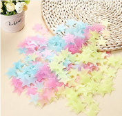 JIAHUI 200Pcs/Pack Stars Glow in the Dark Luminous Fluorescent Plastic Wall Stickers Decals for Home Ceiling Wall Decorate Baby Kids Gift Nursery Room