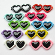 Dandan DIY 40pcs Love Glasses Resin Flatback Flat Backs Button Scrapbooking Craft
