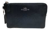 Coach Crossgrain Corner Zip Wristlet Metallic Midnight Blue F54626