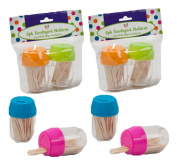 Set of 8 Black Duck Brand Toothpick Dispensers Assorted Colour Barrels – 800 Picks