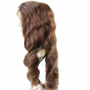 Forawme Wigs For Women Human Hair #4 Dark Brown 70cm Full Lace Body Wave 130% Density Middle Size Cap Wig