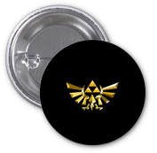 Legend of Zelda Triforce Symbol Print 2 PACK of 7.6cm Buttons Flare by LE Prints