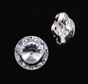 11mm Rondel Button with Crystal Rivoli Centre - 11790/11mm