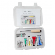 PIXNOR Bias Tape Maker Kit with Case for Sewing Quilting