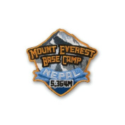 Mount Everest Base Camp Nepal Patch Embroidered Iron / Sew on Badge Trek Mountain Climbing Mountaineering Applique Souvenir