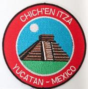Chichen Itza Yucatan Mexico Patch Embroidered Iron / Sew on Badge Trekking Applique Trail Souvenir