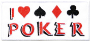 I Love Poker Gambling Winner Playing Card Casino Las Vegas Logo Lucky Biker Jacket T shirt Patch Sew Iron on Embroidered Badge Sign Costum