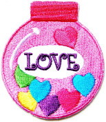 LOVE Heart Bottle Valentine Day Kid Baby Jacket T-shirt Patch Sew Iron on Embroidered Sign Badge Costume Clothing BY PANICHA