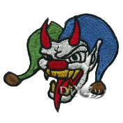 Joker Jester Skull Embroidered Sew or Iron On Patch Applique