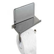 gloednApple Paper Holder, Chrome Stainless Steel Bathroom Toilet Tissue Roll Holder Shelf Bar Hanger