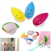 4pcs Cartoon Lovely Smiling Face Toothbrush Holder by Grocery House