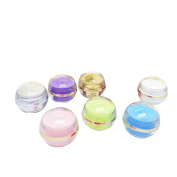 5PCS 5G Mixed Colour Empty Refillable Acrylic Circular Bottle Container Jars Lotion Eye Cream Container With Circular Cap for Home And Travel Colour by Random