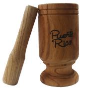 Wooden Mortar Puerto Rico Tall