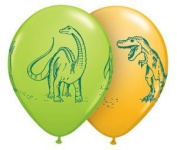 Qualatex 11 Dinosaurs In Action Assortment Latex Balloons Bag of 10 by Qualatex