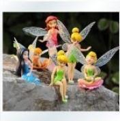 Anime Cartoon Tinkerbell Fairy PVC Action Figure Toys Girls Dolls Gift 6pcs/set by Dinglongshan by Dinglongshan