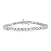 Noray Designs IGI Certified 14K White Gold Diamond (3 Ct, G-H Colour, I1-I2 Clarity) Tennis Bracelet