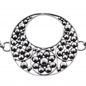 Handmade Granulation Filigree 925 Sterling Silver Bracelet, 18cm - 20cm