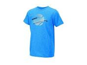 Wilson Kids' B B Tennis Stripe Tech T-Shirt-Neptune Heather, Large