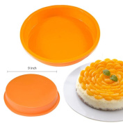 Kitchen, Dining & Bar 23cm Round Silicone Cake Mould Pan Muffin Chocolate Pizza Pastry Baking Tray Mould
