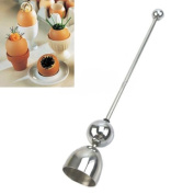 Whosee 24cm DIY Egg Shell Topper Cutter Open Tools Kitchen Hotel Stainless Steel Gadget