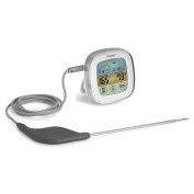 Polder Touch Screen Preset Thermometer White w/ Ultra Probe