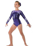 Tappers & Pointers GYM/14 Long Sleeve Shine Gymnastics Leotard - Pink Or Plum Available