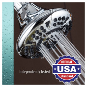 AquaDance High-Pressure 6-setting 11cm Shower Head for the Ultimate Shower Spa Experience! / Officially Independently Tested to Meet Strict US Quality & Performance Standards