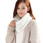Acrylic fibres Fashion Warm Knit Neck Circle Wool Blend Wool Ninasill Scarf